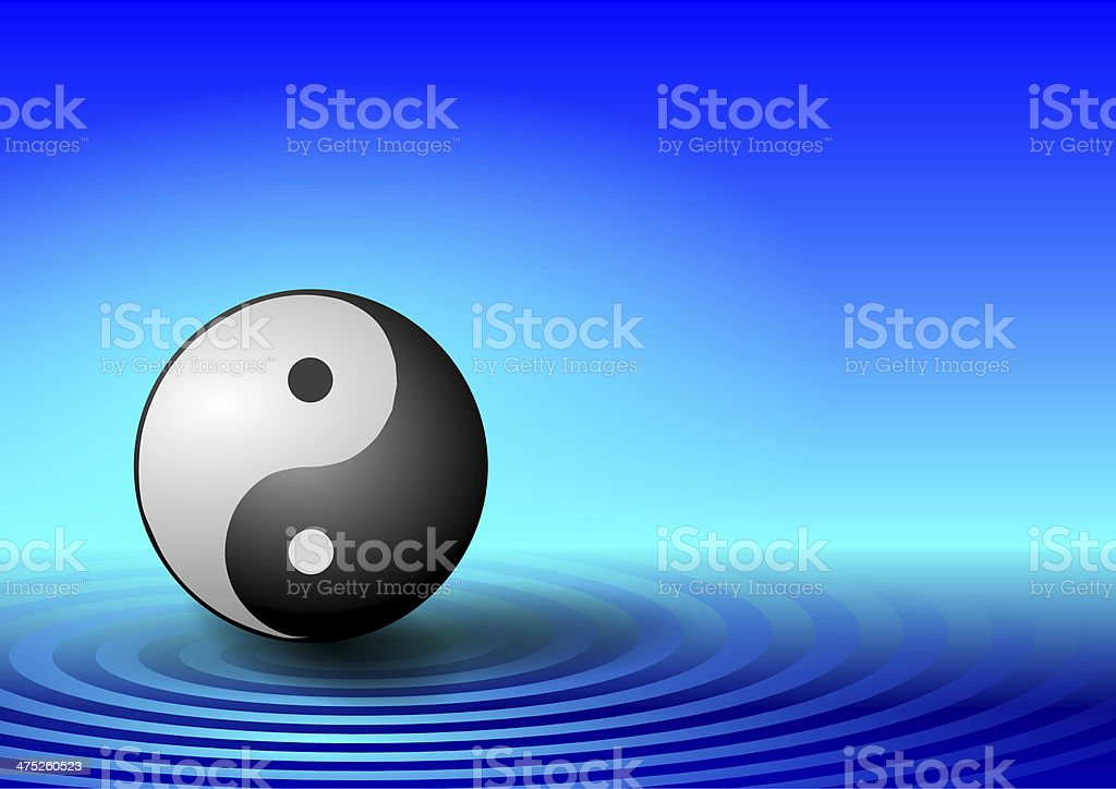 ying yang symbol stock photo