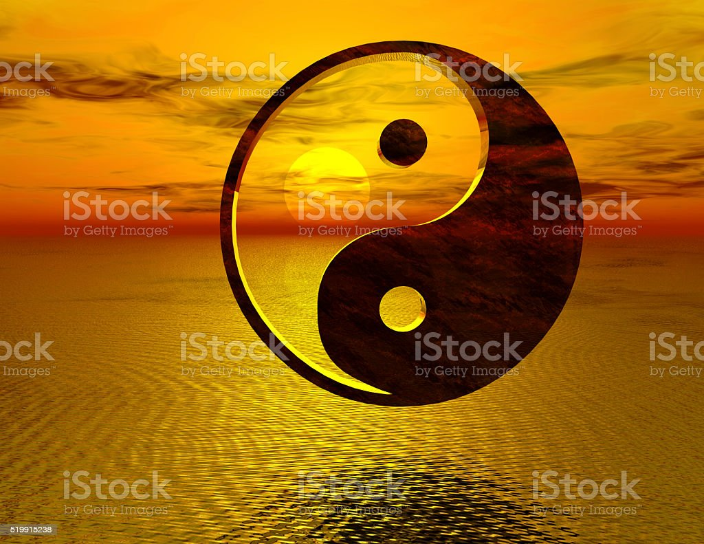 yingyang stock photo