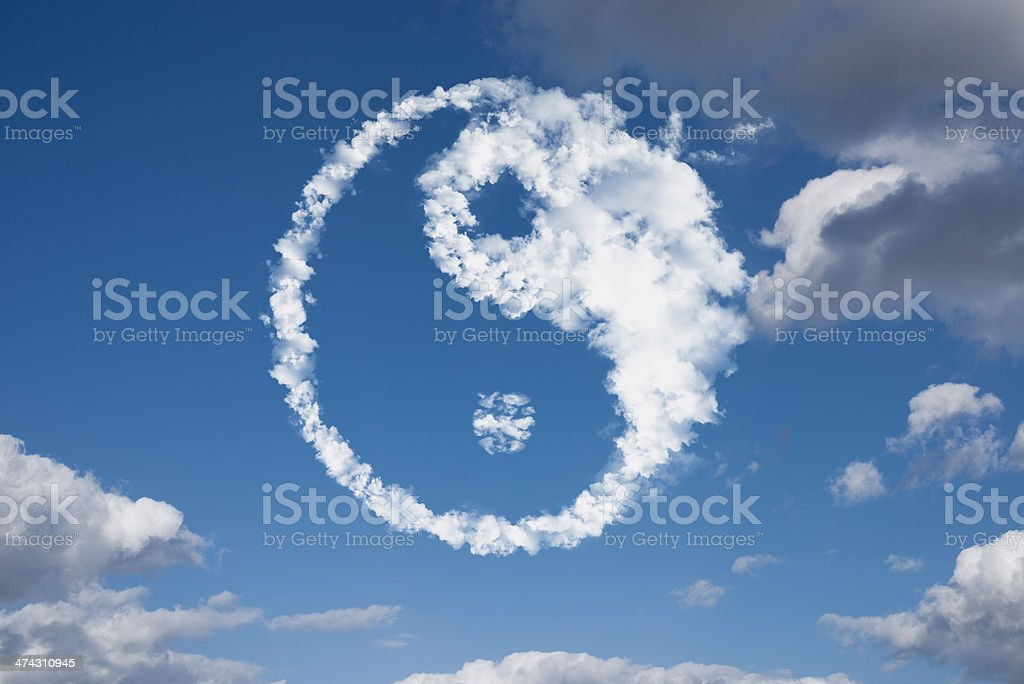 Yin-Yang clouds stock photo