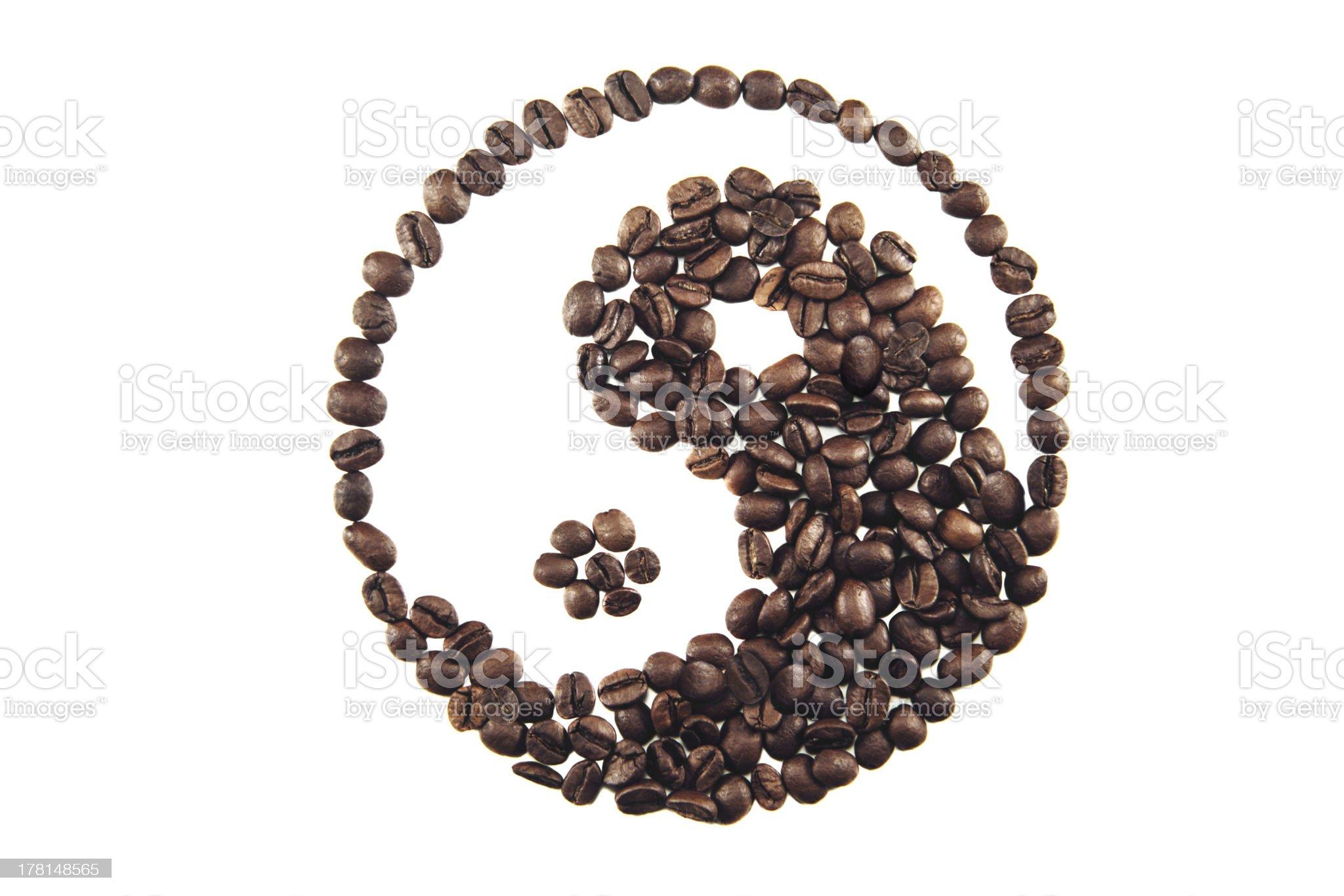 Yin-yang of coffe royalty-free stock photo