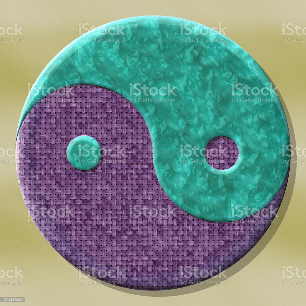 Yin-yang symbol with seamless generated texture background vector art illustration