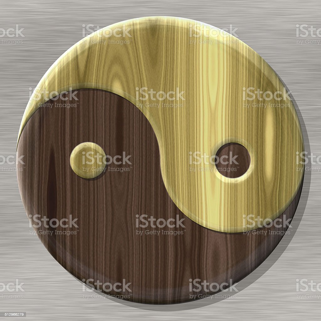 Yin-yang symbol with seamless generated texture vector art illustration