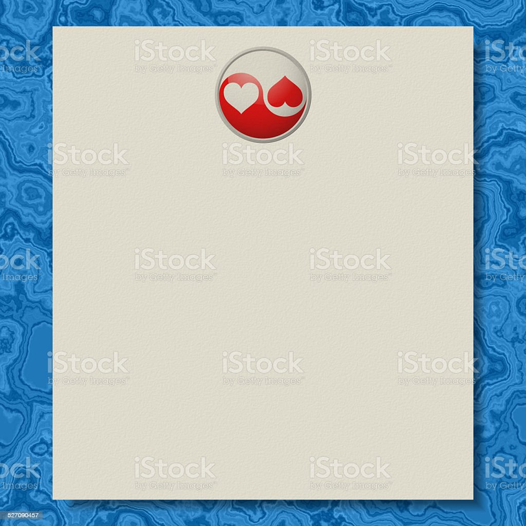 Yin-yang writing paper marble texture background vector art illustration