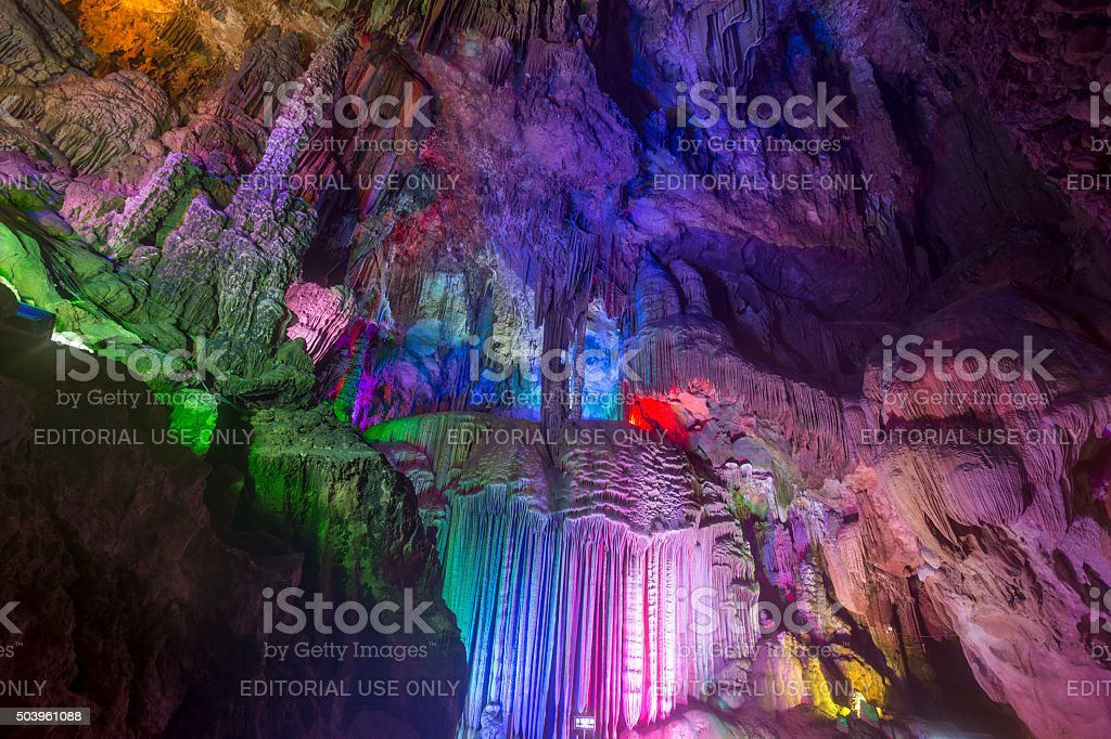 Yinziyan Cave, China stock photo