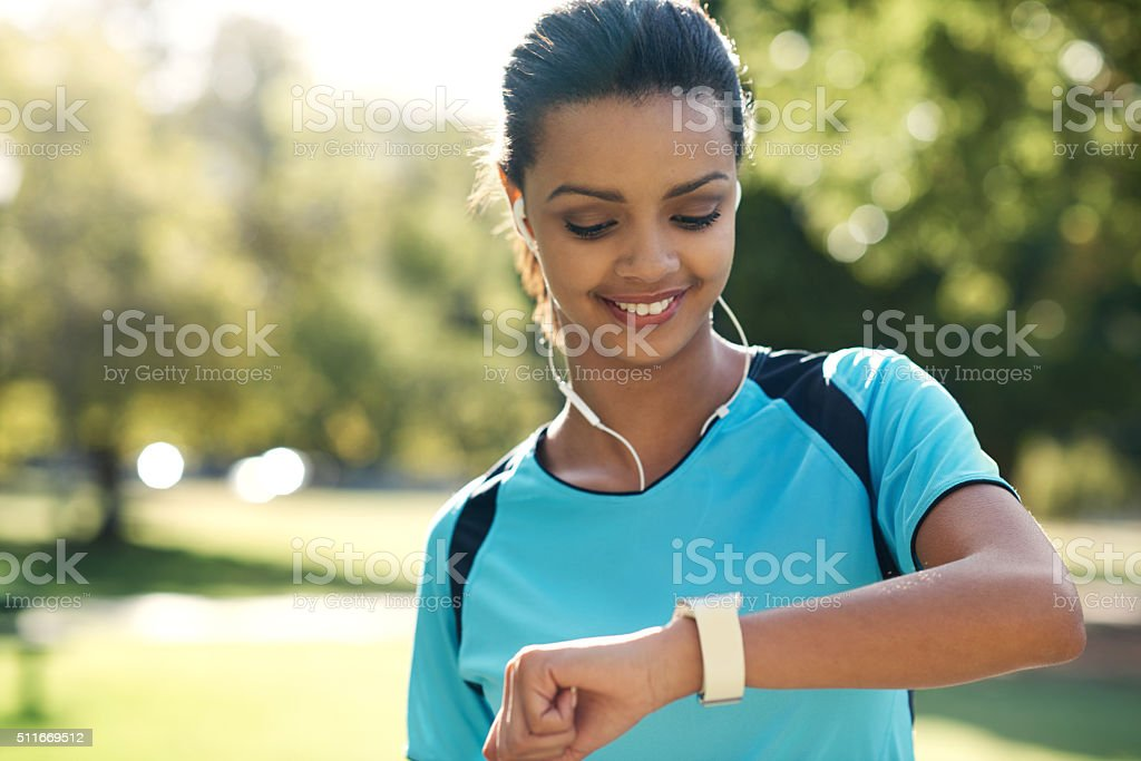 Yip, I just killed my workout stock photo