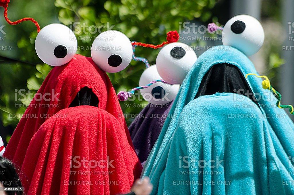 Yip Yip Aliens from Sesame Street stock photo