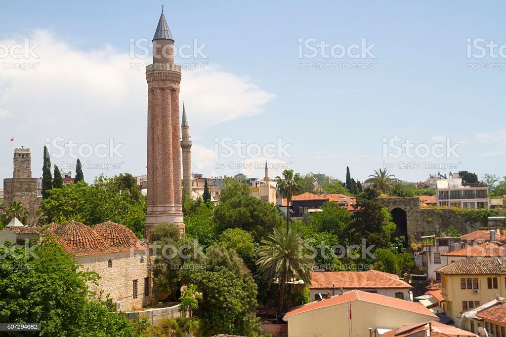 Yivli Minare Mosque stock photo