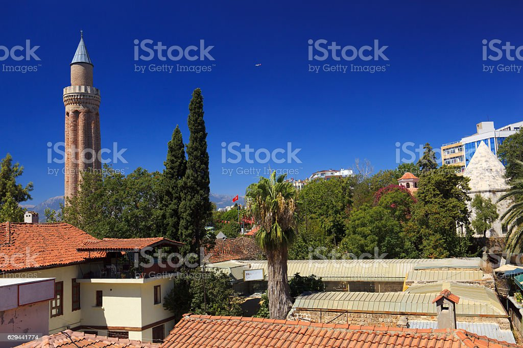 Yivliminare Mosque in Antalya stock photo