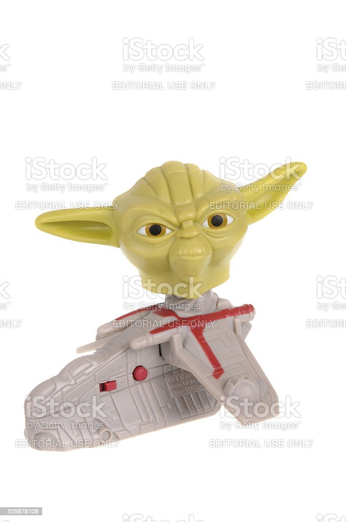Yoda Happy Meal Toy stock photo