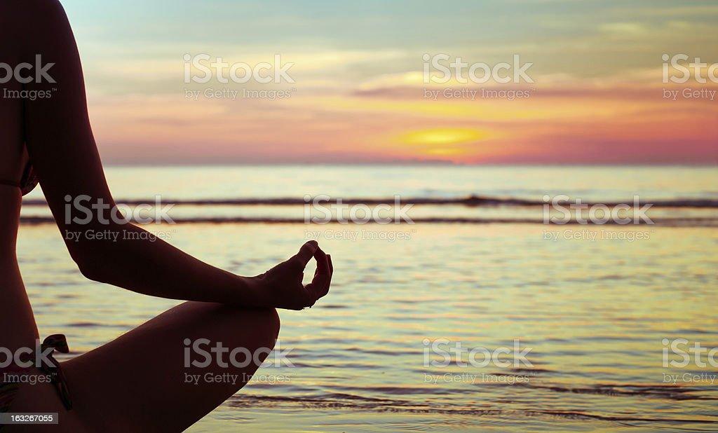 yoga abstract, lotus royalty-free stock photo