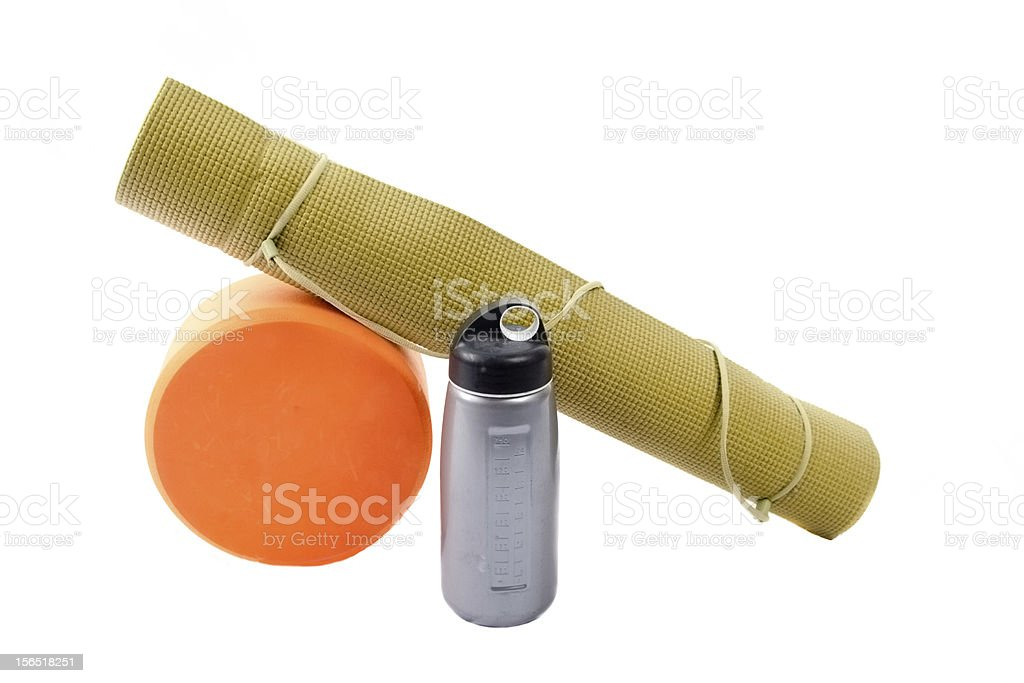 Yoga Accessories royalty-free stock photo