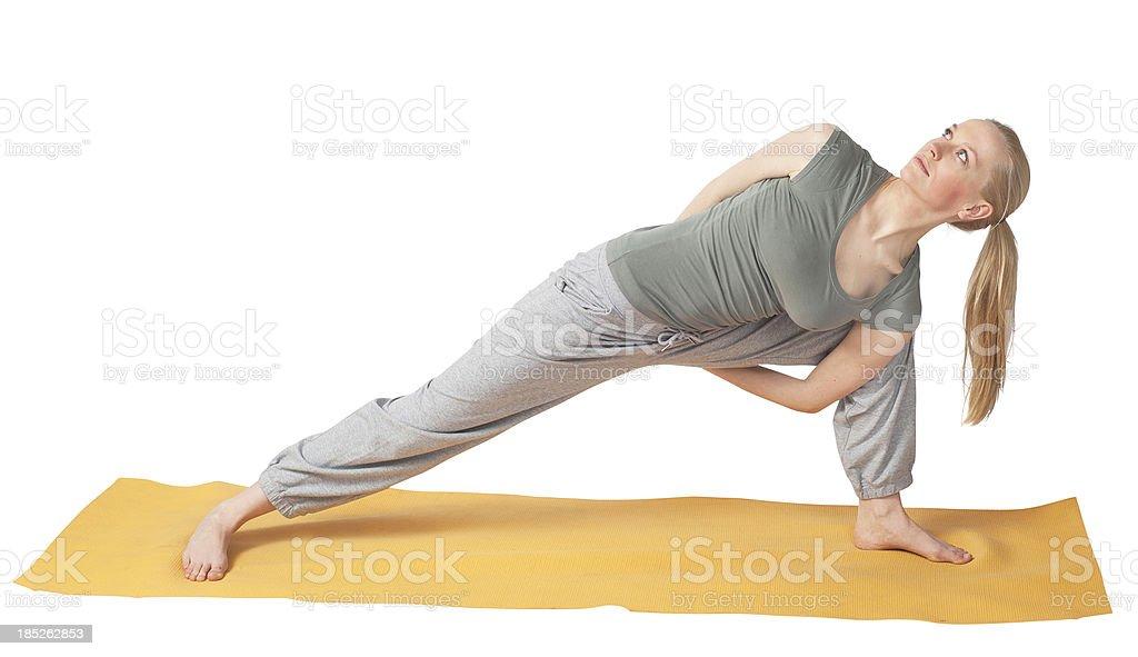 yoga - aerobics training of a woman making gym royalty-free stock photo