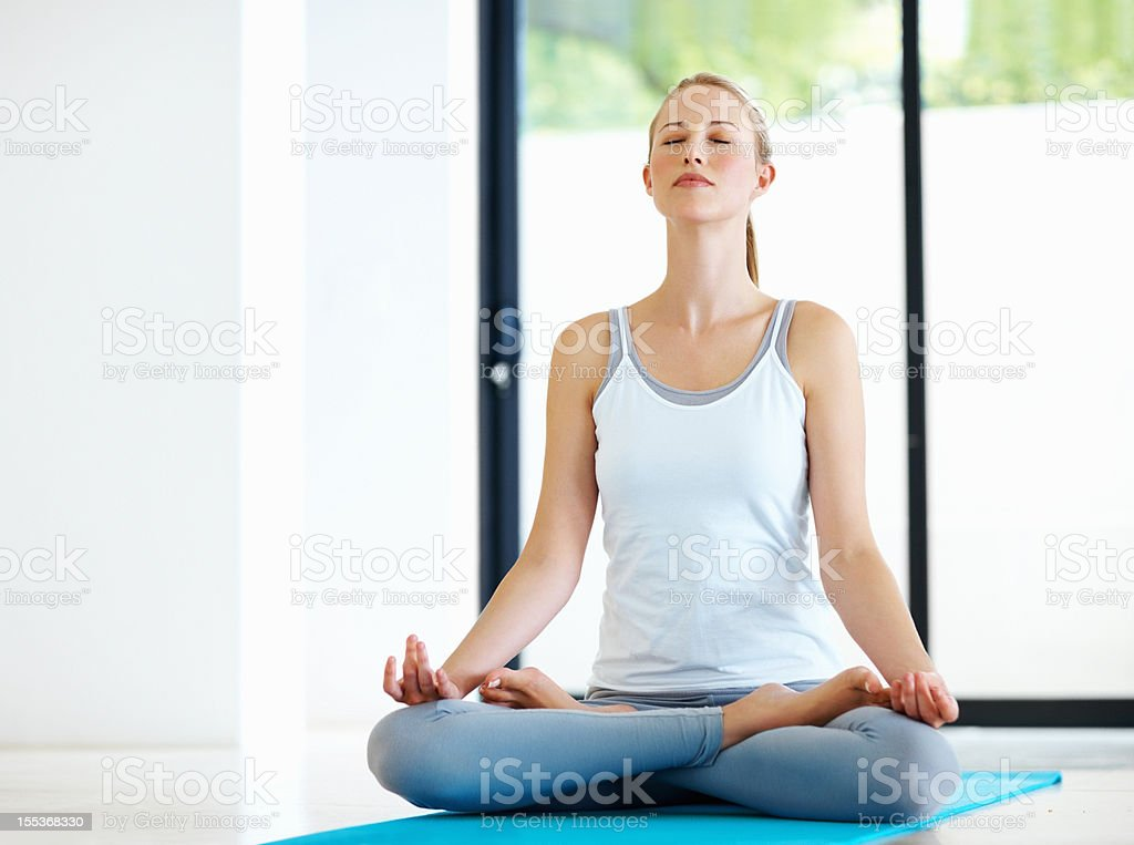 Yoga and fitness royalty-free stock photo