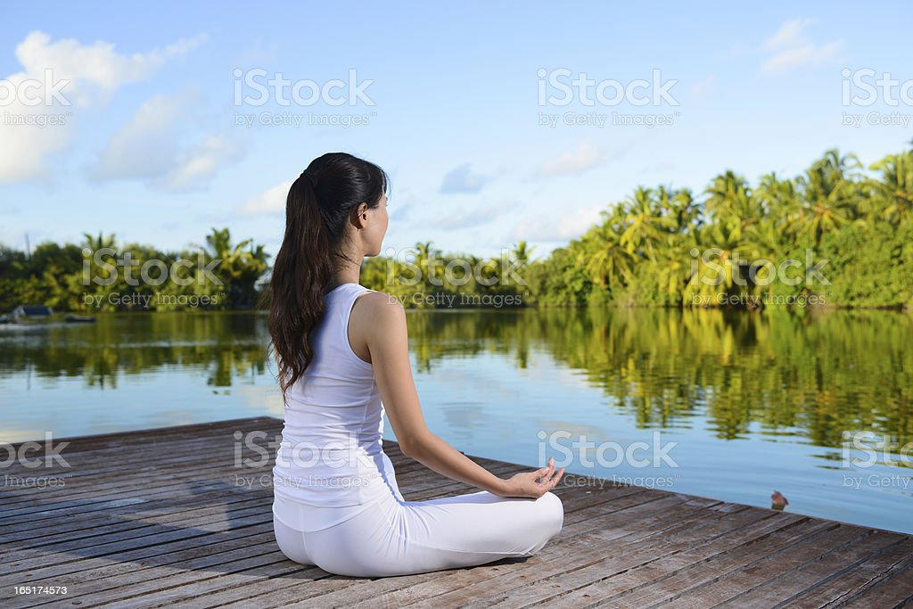 Yoga and Lotus Position royalty-free stock photo