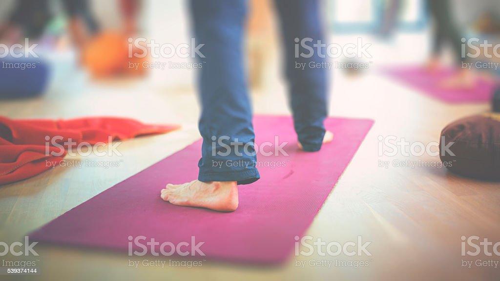 Yoga and meditation stock photo
