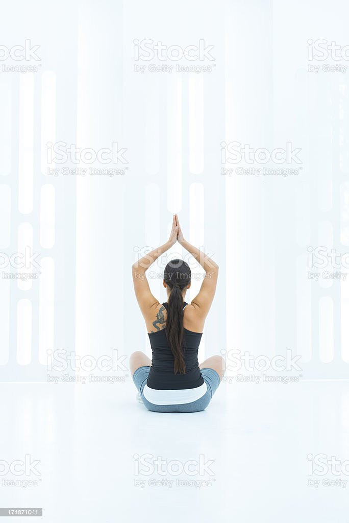 Yoga and relaxation royalty-free stock photo