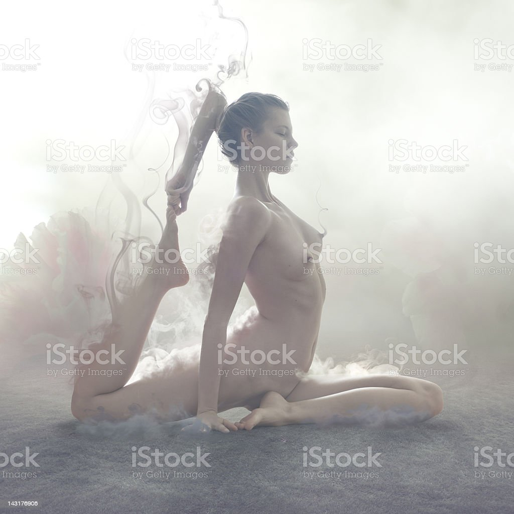 Yoga asana royalty-free stock photo
