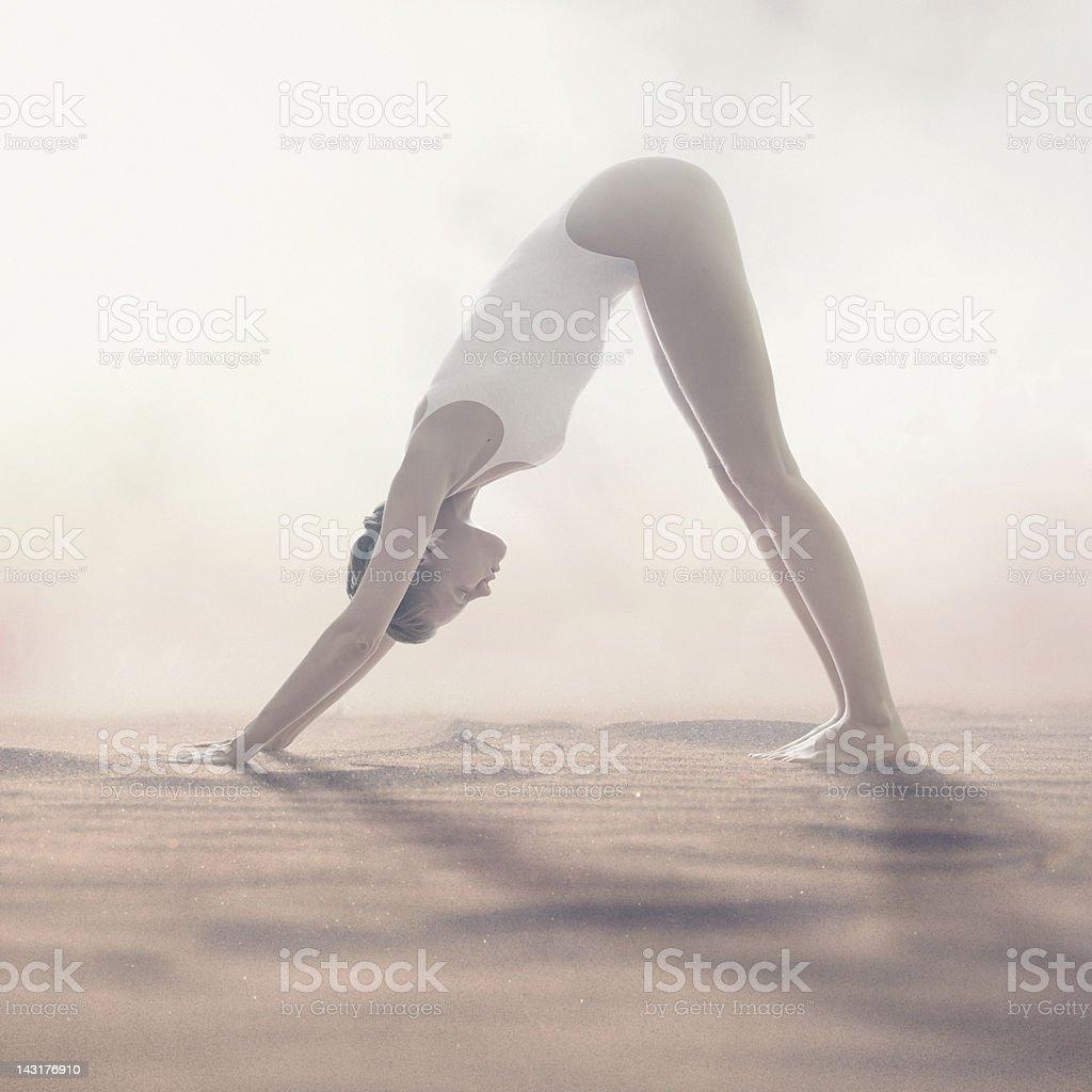 yoga asana royalty-free stock photo