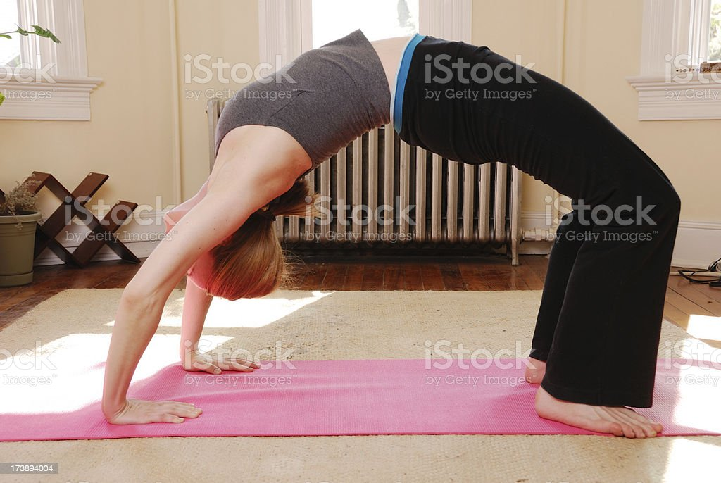 Yoga At Home stock photo