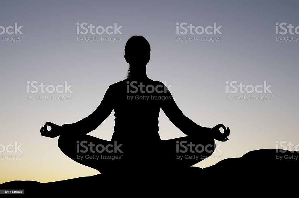 Yoga at Sunset royalty-free stock photo