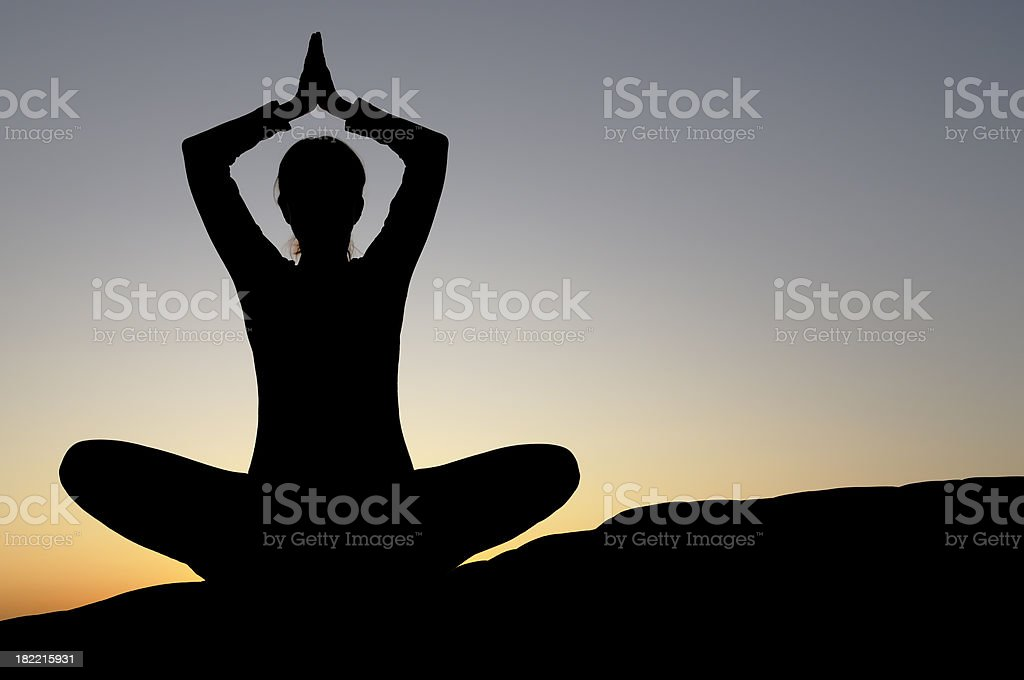 Yoga at Sunset royalty-free stock photo