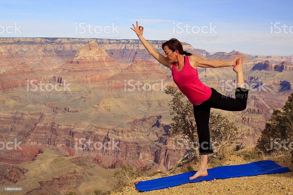 Yoga at the Canyon royalty-free stock photo