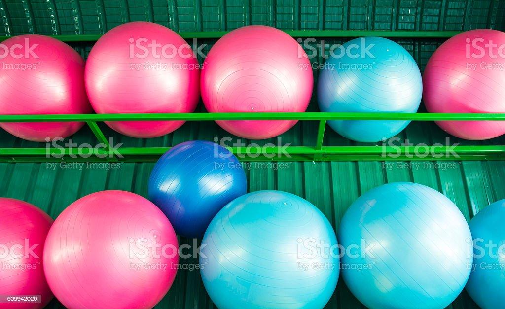 yoga balls stock photo