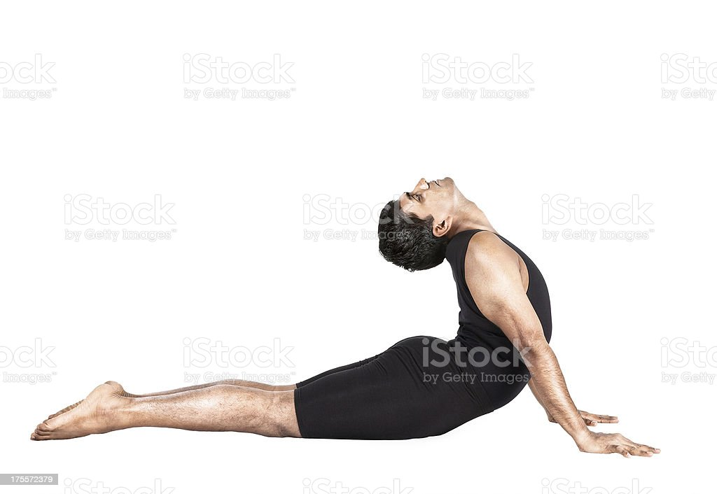 Yoga bhujangasana cobra pose stock photo