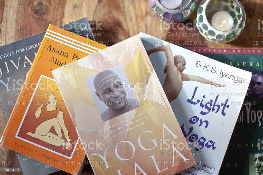 Yoga Books royalty-free stock photo
