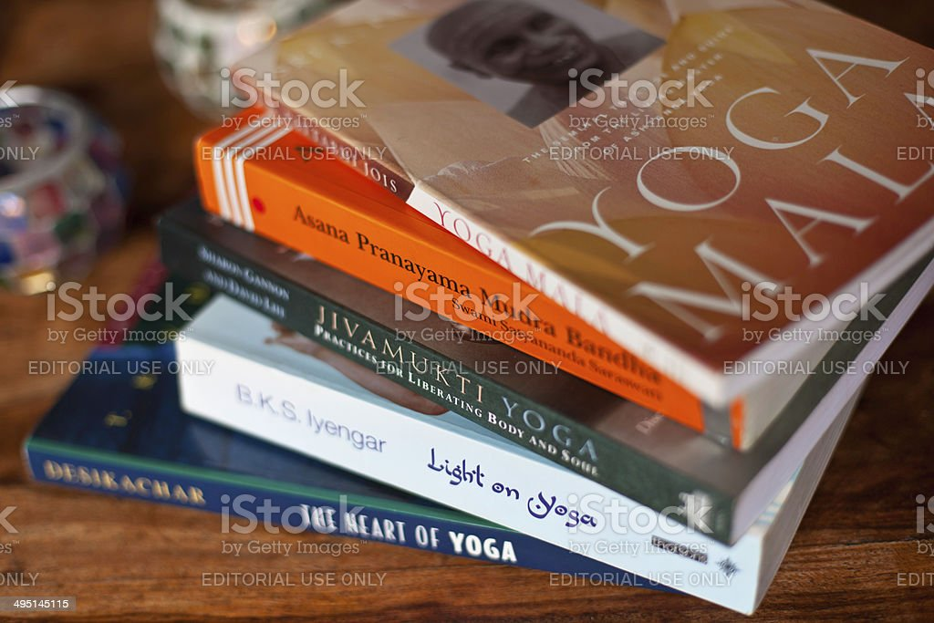 Yoga Books royalty-free stock photo