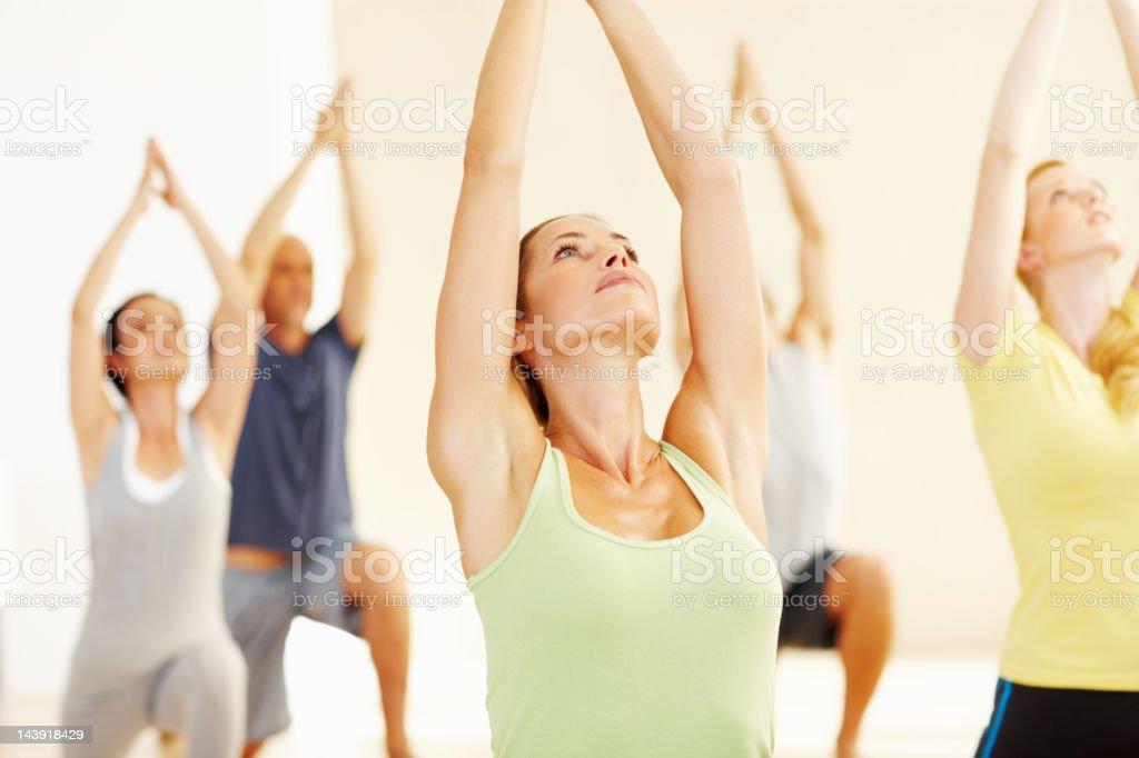 Yoga class royalty-free stock photo