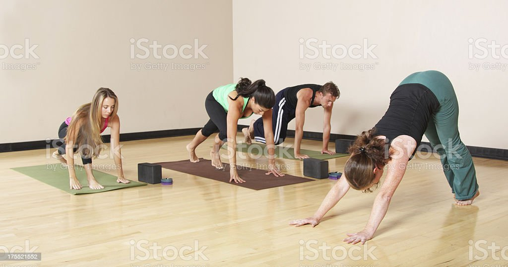 Yoga Class stock photo