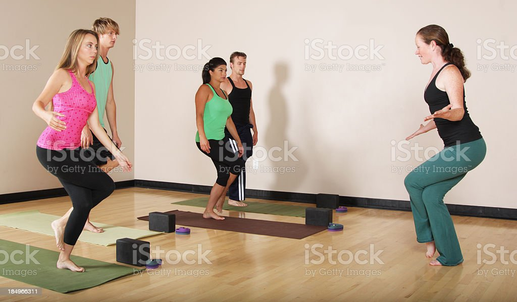 Yoga Class stock photo