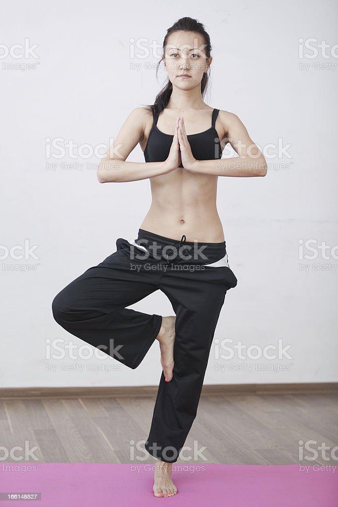 Yoga class room royalty-free stock photo