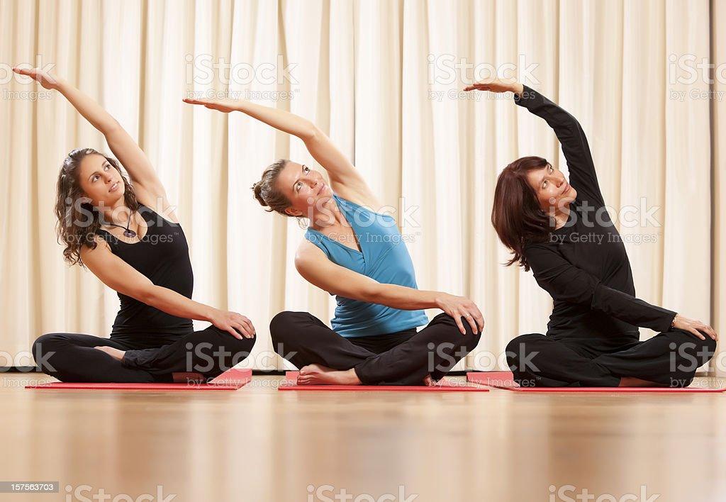 Yoga classes royalty-free stock photo