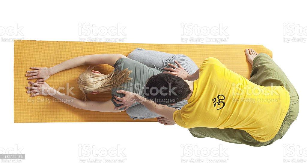 yoga couple - Partneryoga stock photo