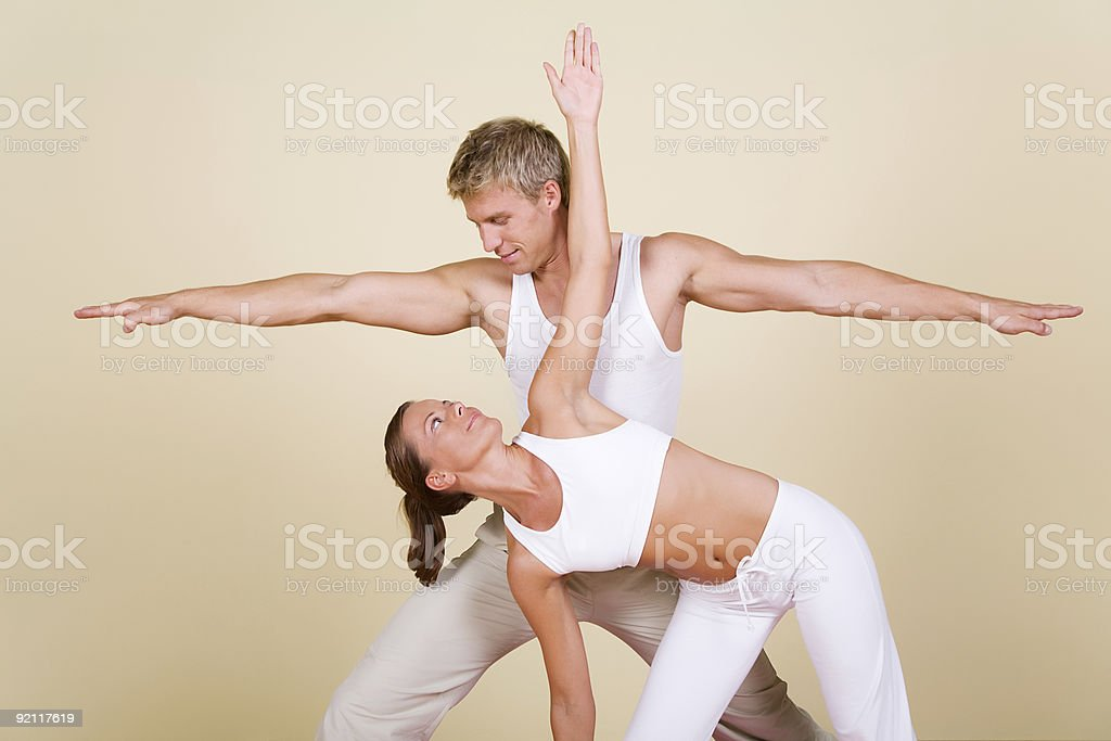 Yoga Couple stock photo