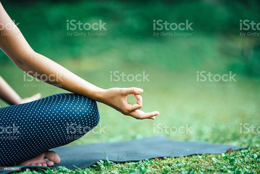 Yoga Detail From Lotus Position stock photo