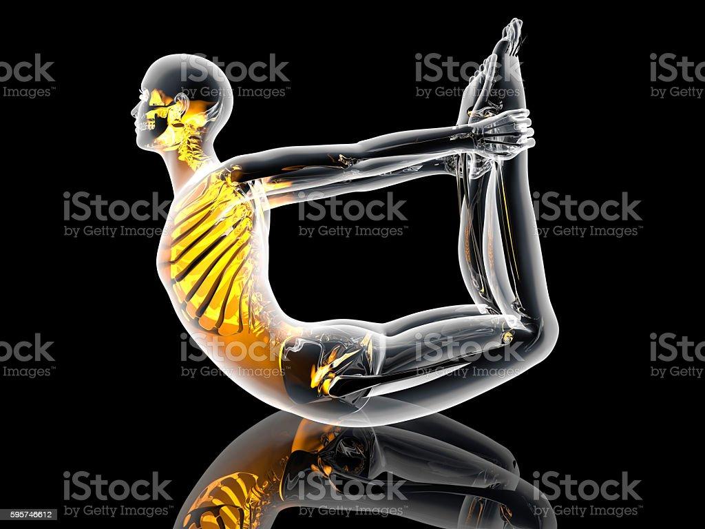 Yoga - Dhanurasana stock photo