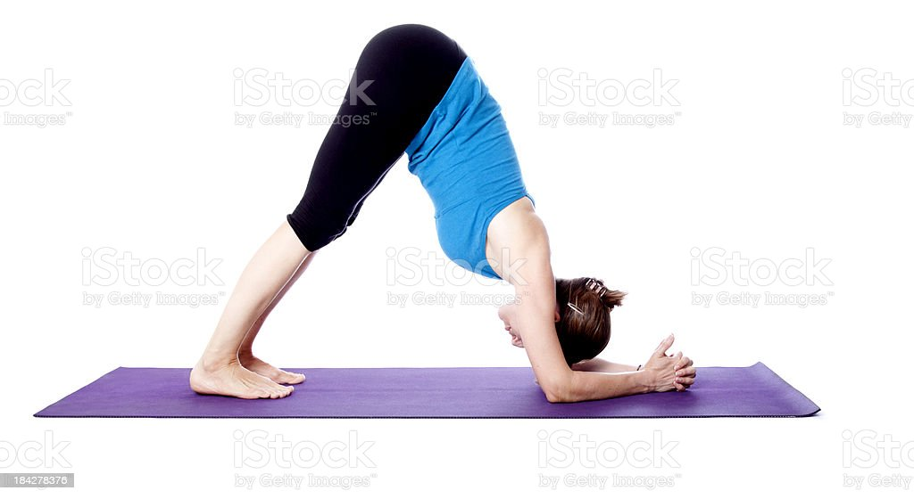 Yoga Dolphin Pose stock photo