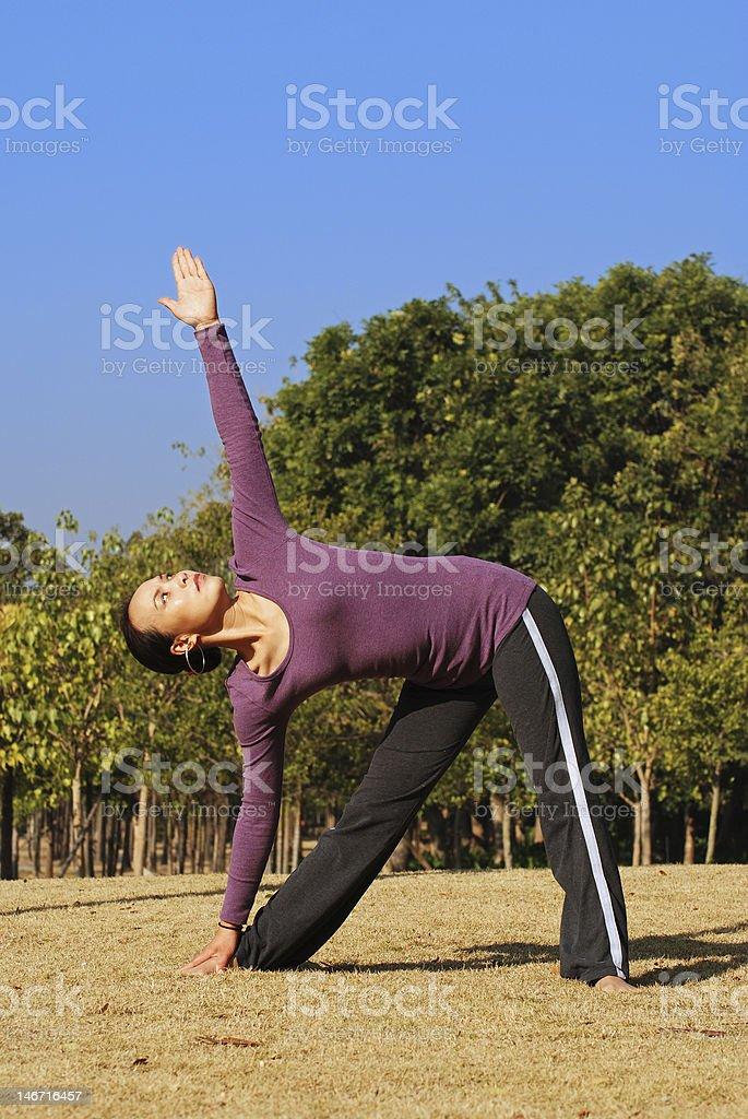 Yoga enthusiast royalty-free stock photo