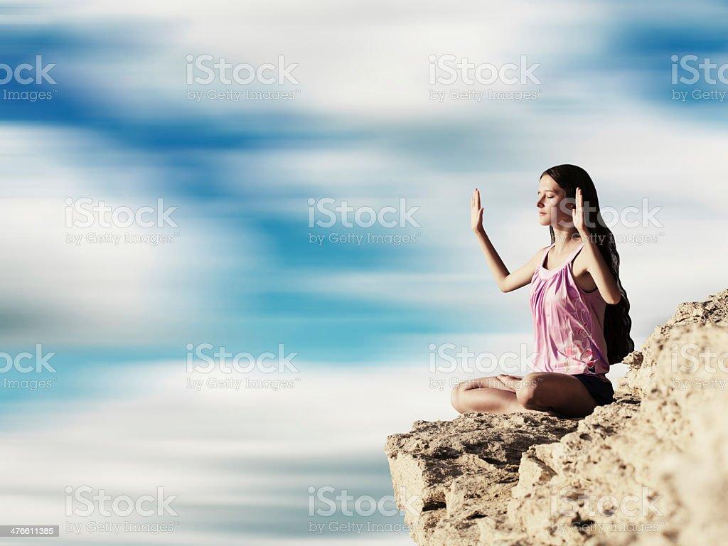 Exercice de Yoga (Padmasana) photo libre de droits