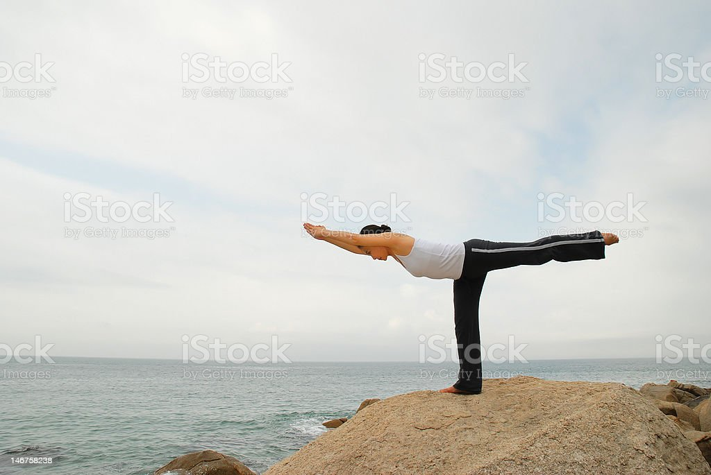 Yoga Exerciser royalty-free stock photo