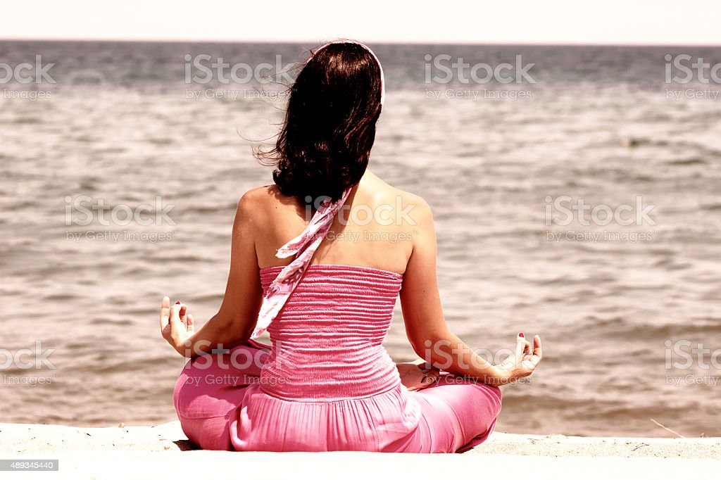 Yoga exercises for the mind and body stock photo