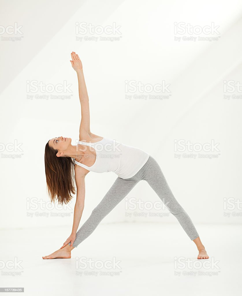 Yoga - Extended Triangle Pose stock photo
