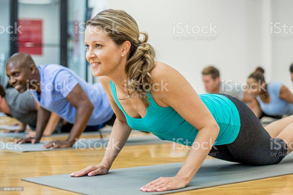 Yoga Flow stock photo