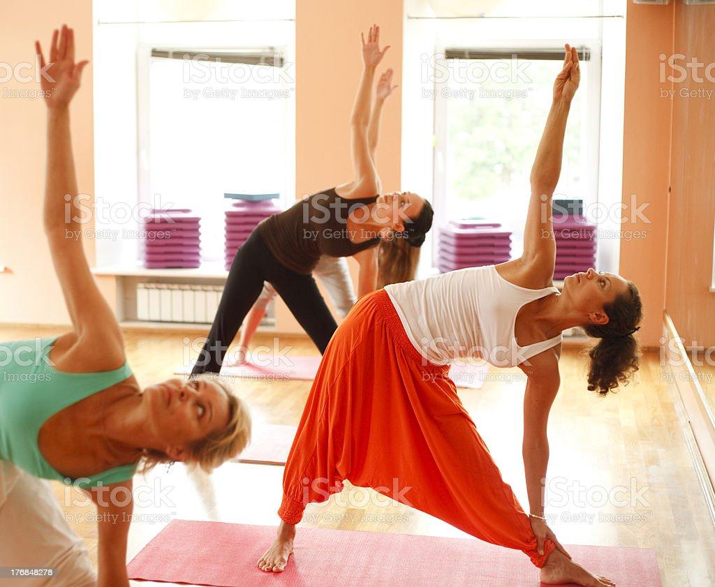 Yoga for women royalty-free stock photo