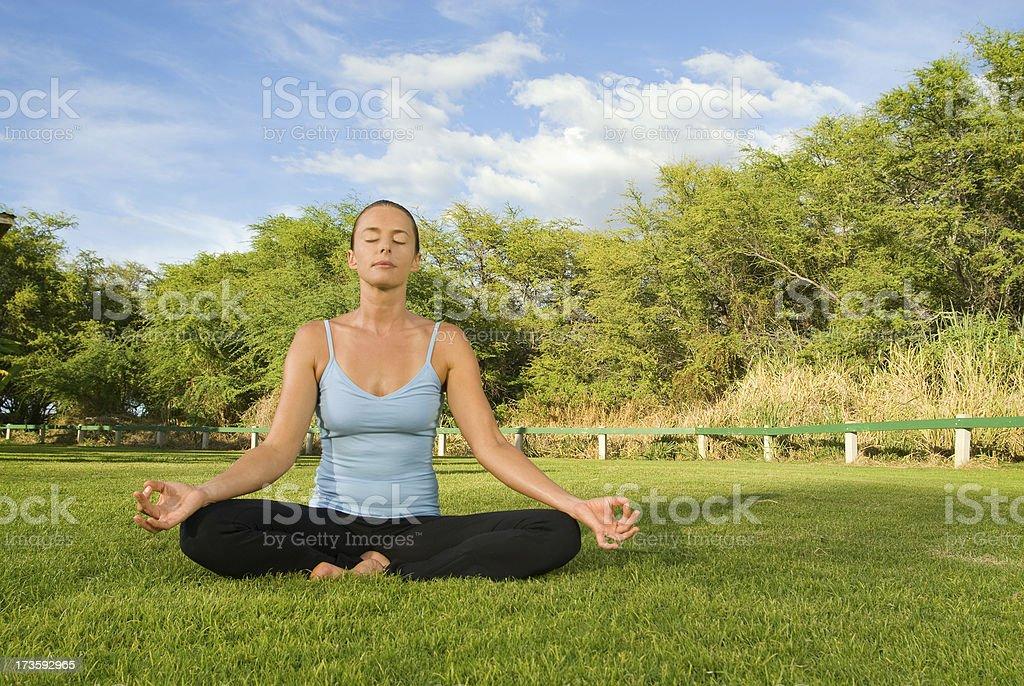 Yoga Girl. royalty-free stock photo