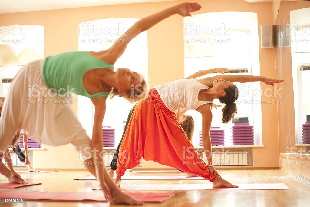 Yoga group royalty-free stock photo