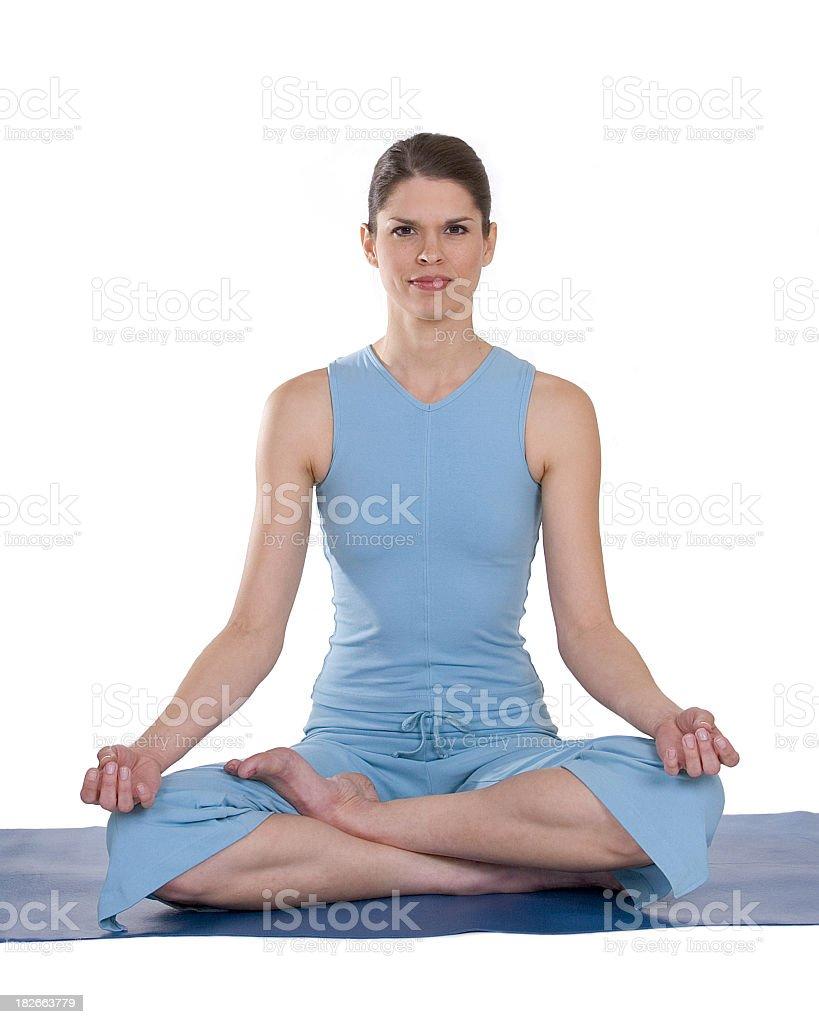 Yoga Half Lotus Pose royalty-free stock photo